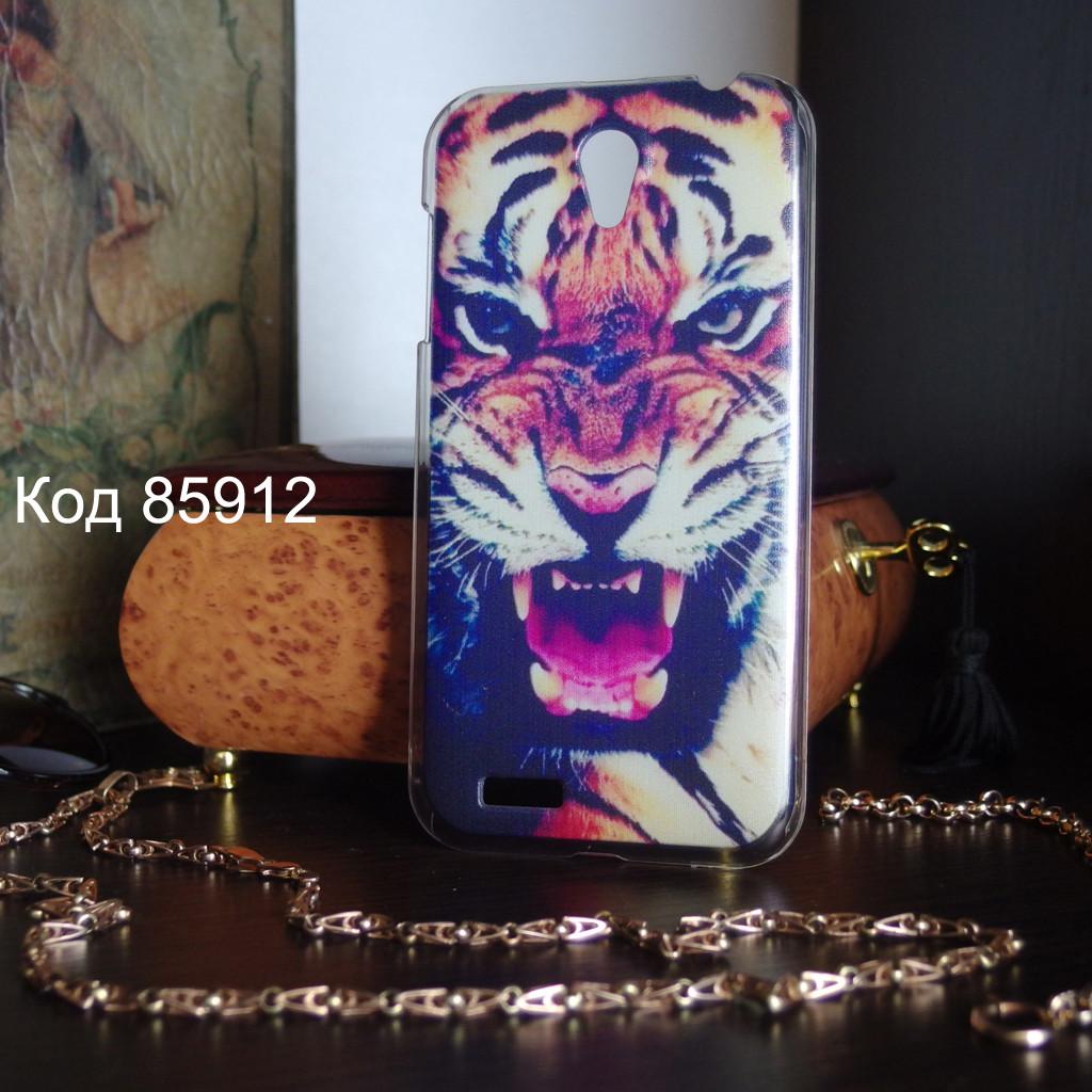 Чехол для lenovo a859 панель накладка с рисунком тигр