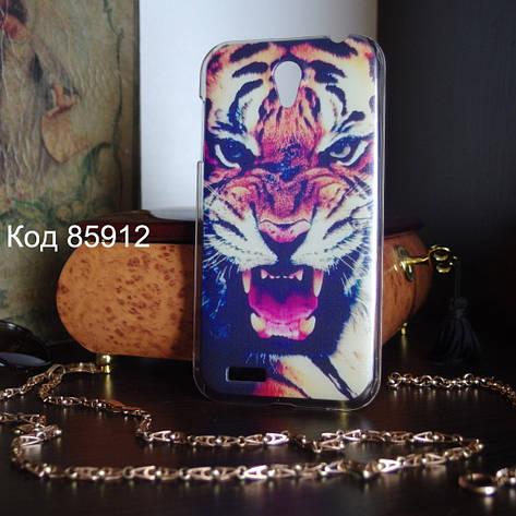 Чехол для lenovo a859 панель накладка с рисунком тигр, фото 2