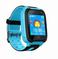Детские Смарт Часы S4 GPS с сенсорным экраном Цвет Сине-черные! Скидка