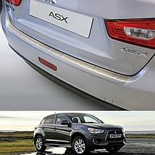 Пластикова захисна накладка на задній бампер для Mitsubishi ASX 2012-2016