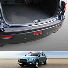 Пластикова захисна накладка на задній бампер для Mitsubishi ASX 2010-2012