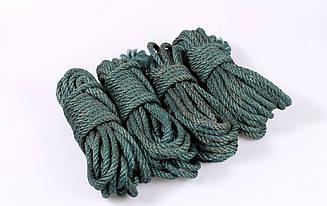 Набор веревок для шибари 4х8м. 6мм, джут. зеленый