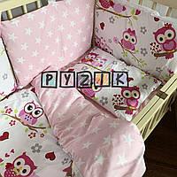 Детское постельное бельё Сова фиолетовое (9 предметов), фото 1