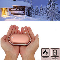 Грелка-повербанк для рук Pebble Hand Warmer PowerBank 5000 mAh розовый! Лучшая цена
