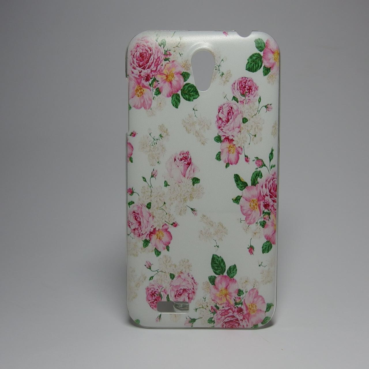 Чехол для lenovo a859 панель накладка с рисунком цветы