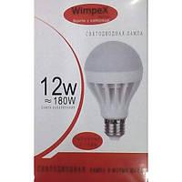Светодиодная лампа WIMPEX 12w 180w, Лед лампочка, Led Лампочка, Энергосберегающие лампочки для дома! Хит