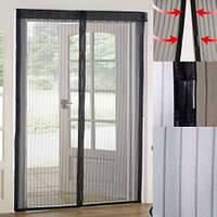 Занавеска маскитная Magic Mesh 90*210 см, Антимоскитна сетка на двери, Магнитная штора от комаров, ELITE