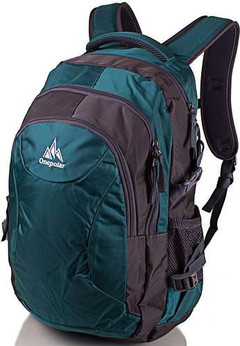 Мужской рюкзак, городской 20 л. Onepolar W1801-green зеленый