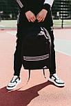 Мужской рюкзак Adidas городской спортивный молодежный черный. Живое фото. В 2х цветах, фото 3