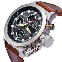 Наручные мужские армейские часы Amst Watch Коричневые, хорошая цена