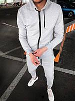 Серый мужской спортивный костюм, фото 1