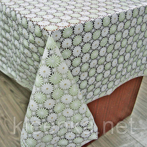 Скатерть клеенчатая Ажур на кухонный стол, фото 2