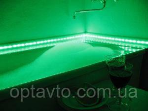 Диодная подсветка на самоклейке 12 и 220 Вольт. Диодная подсветка в дом, кухню, ванную.Цвет зеленый.