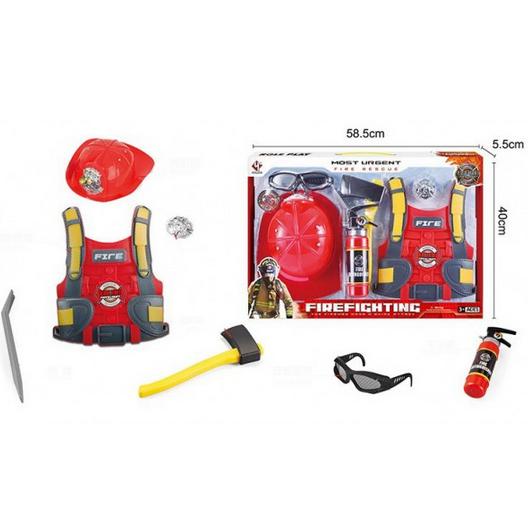 Игровой набор инструментов.Игрушечный набор юного пожарника.