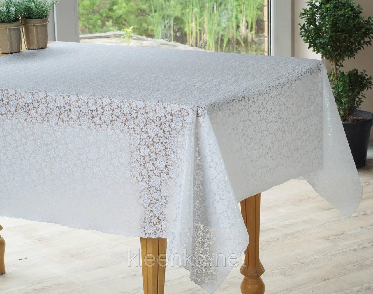 Скатерть белая на праздничный стол ажурная