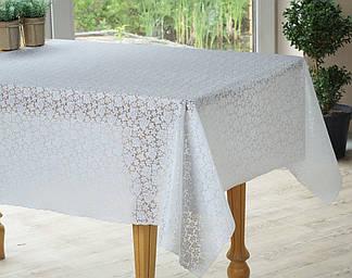 Скатерть белая на праздничный стол ажурная, фото 2