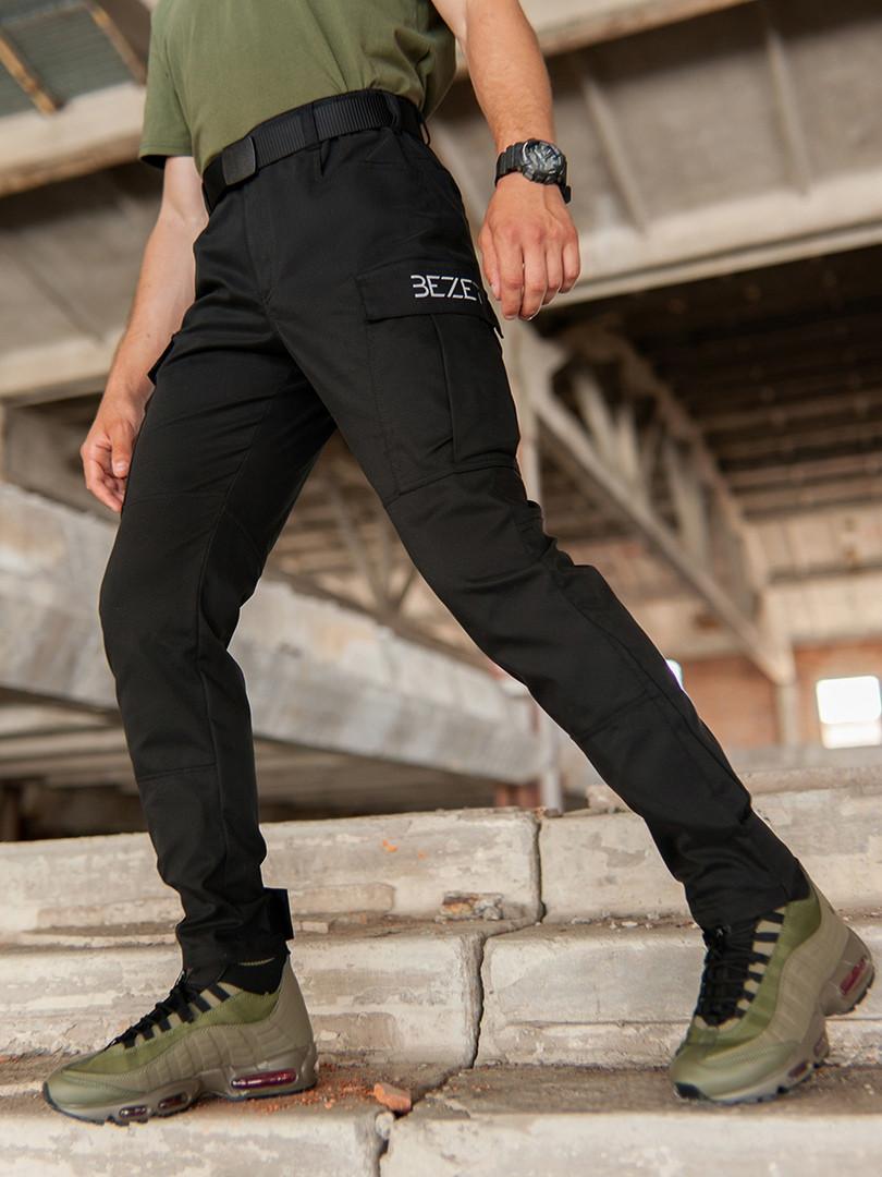Мужские карго брюки beZet Aviator black'20, мужские осенние карго штаны, черные карго штаны