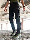 Мужские карго брюки beZet Aviator black'20, мужские осенние карго штаны, черные карго штаны, фото 2