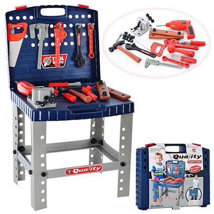 Детский набор игрушечных инструментов 008-21, чемодан-столик