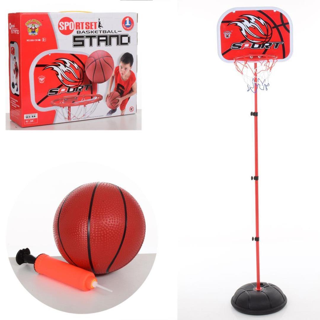 Баскетбольна стійка 150 см, з м'ячем і насосом в комплекті (M 5708)