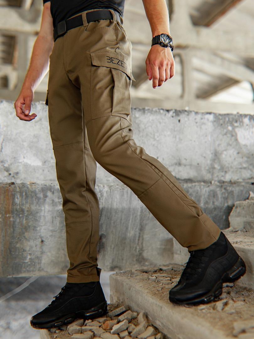 Мужские карго брюки beZet Aviator koyot'20, мужские осенние карго штаны, коричневые карго штаны