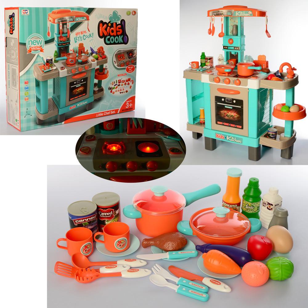 Детская игровая кухня Kids Cook 008-938A со звуком и светом, Бирюза