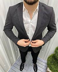 😜 Піджак - Чоловічий класичний піджак сірого кольору