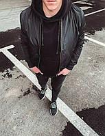 Черная мужская ветровка, фото 1