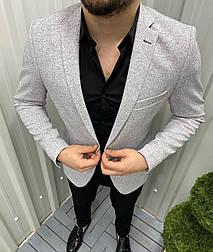 😜 Піджак - Чоловічий класичний піджак світло-сірий