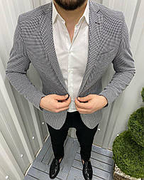😜 Піджак - Чоловічий класичний піджак (сірий)