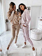 Женский костюм двойка свитшот и штаны на манжетах