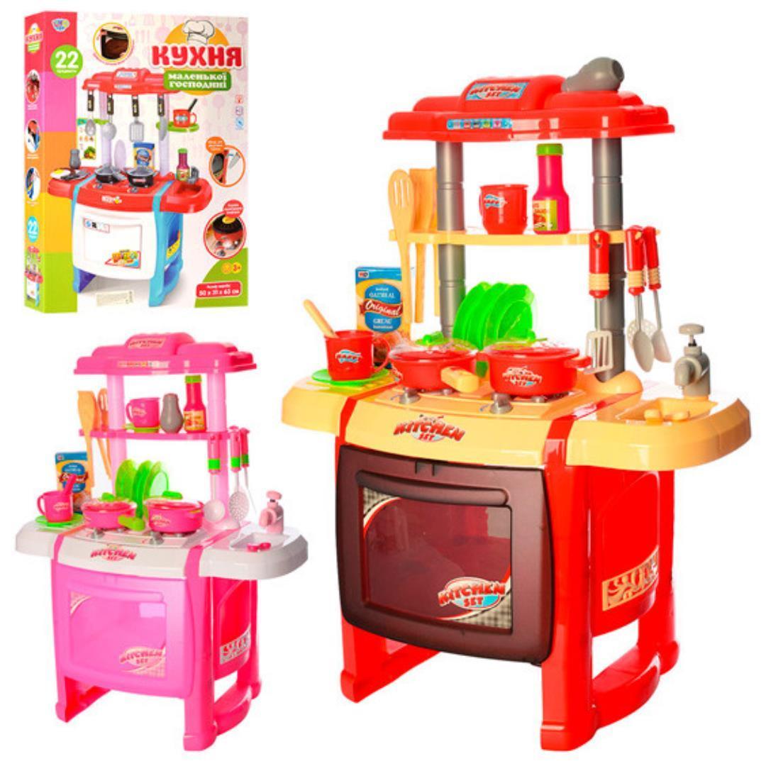 Детская кухня со звуком и светом Limo Toy WD-P15-R15, Красная