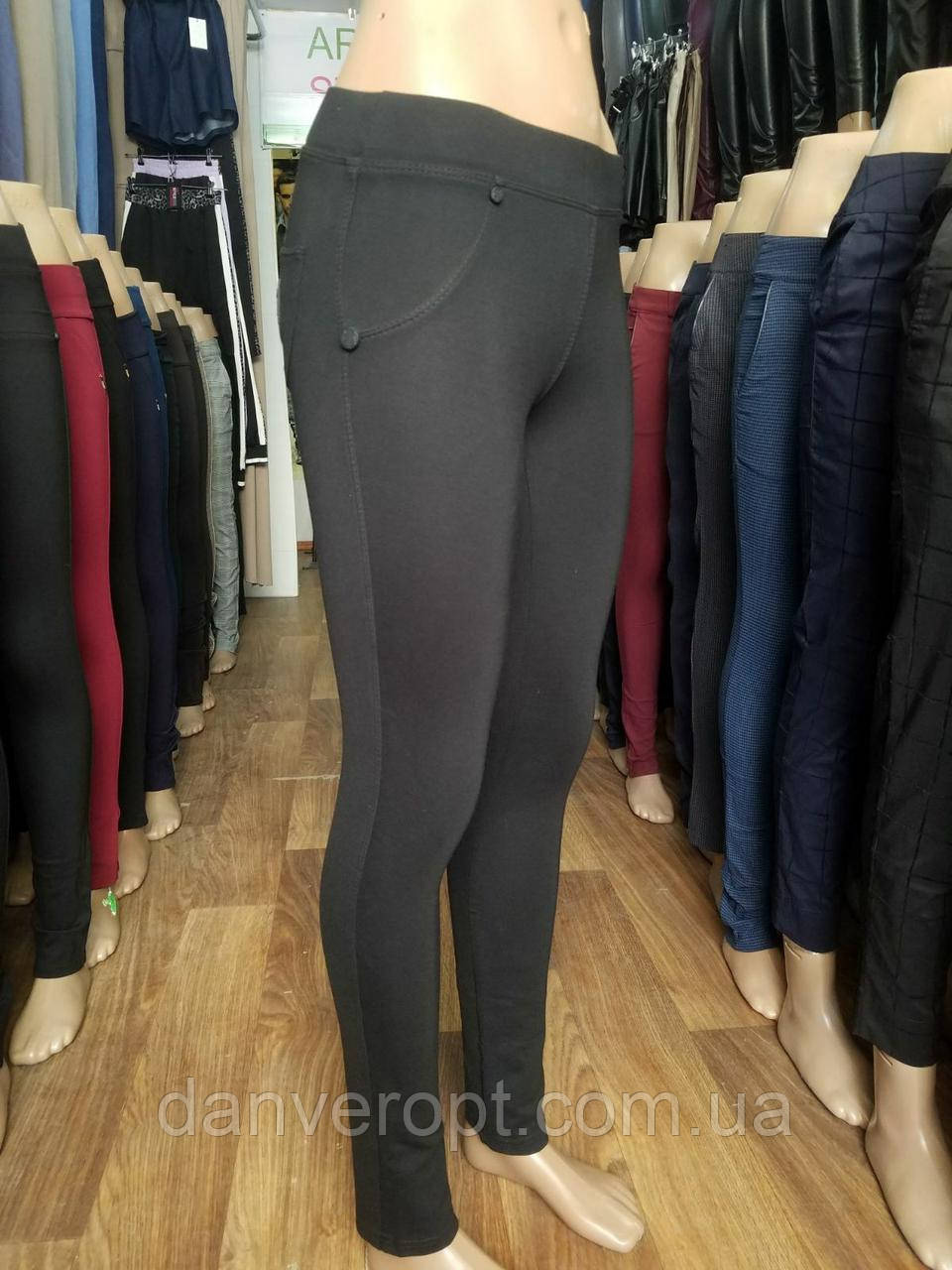 Лосины женские стильные однотонные размер норма 40-50 купить оптом со склада 7км Одесса