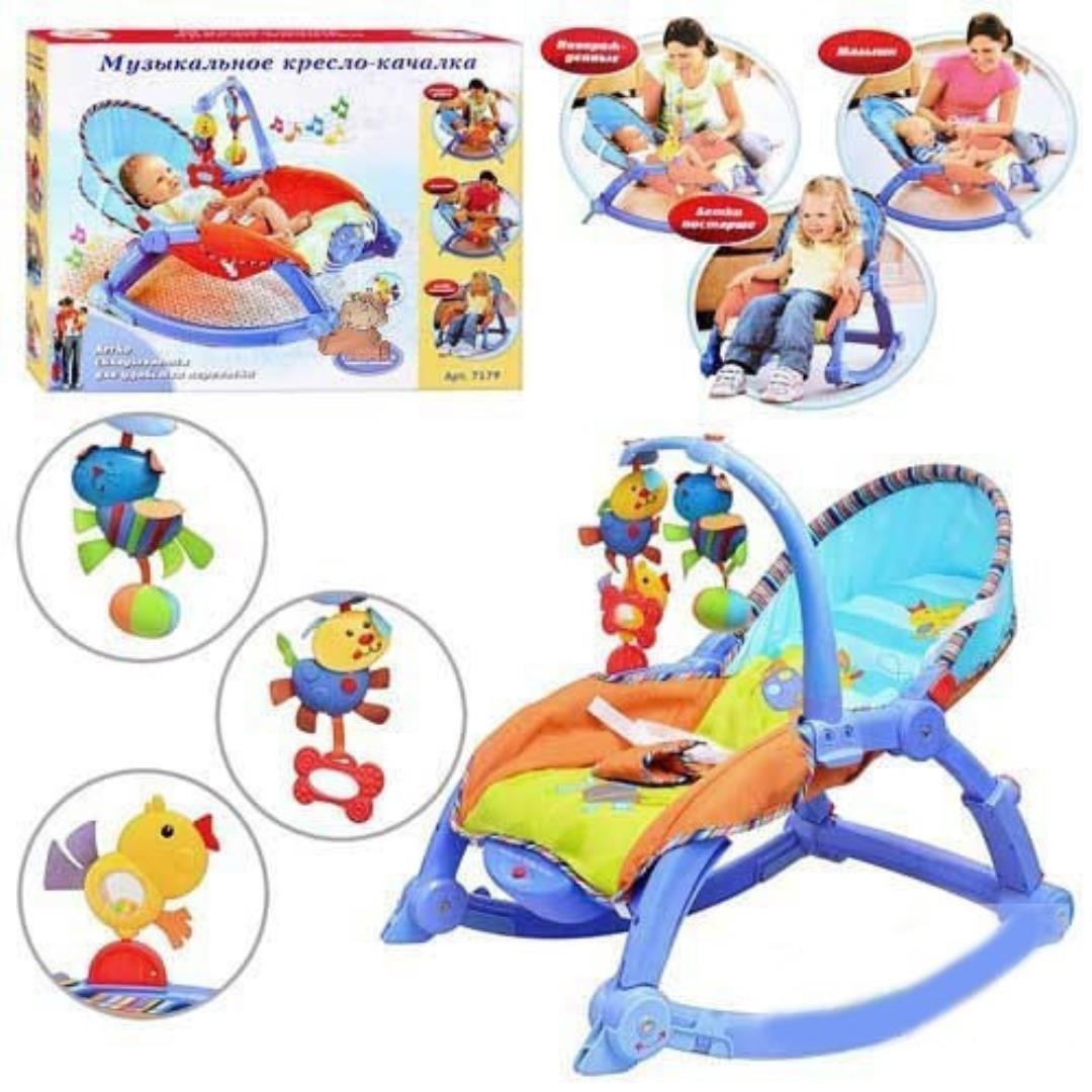 Музыкальное кресло-качалка 7179 для новорожденных