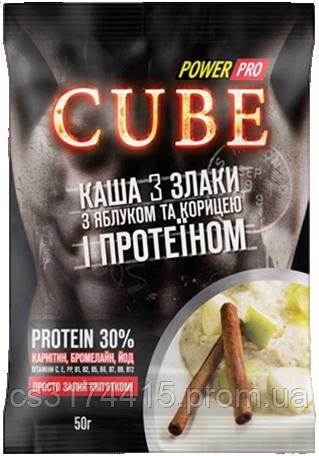 Каша 3 злака Power Pro Cube с Яблоком,Корицей и Протеином (50 грамм)