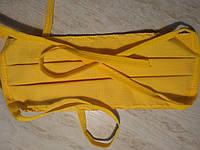 Маска защитная бязь желтая