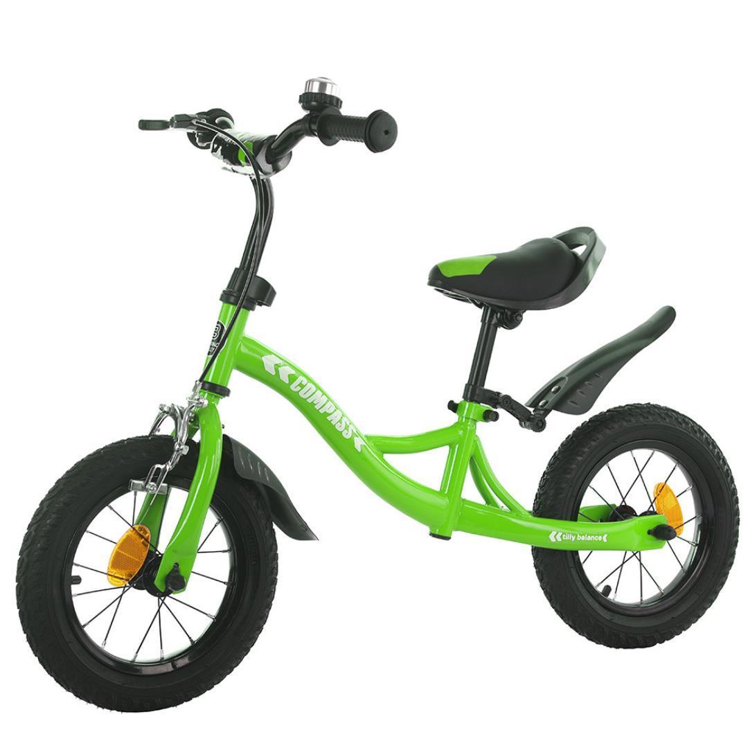 Детский беговел Tilly Balance Compass T-21258 Green (Салатовый) c ручным тормозом и звонком