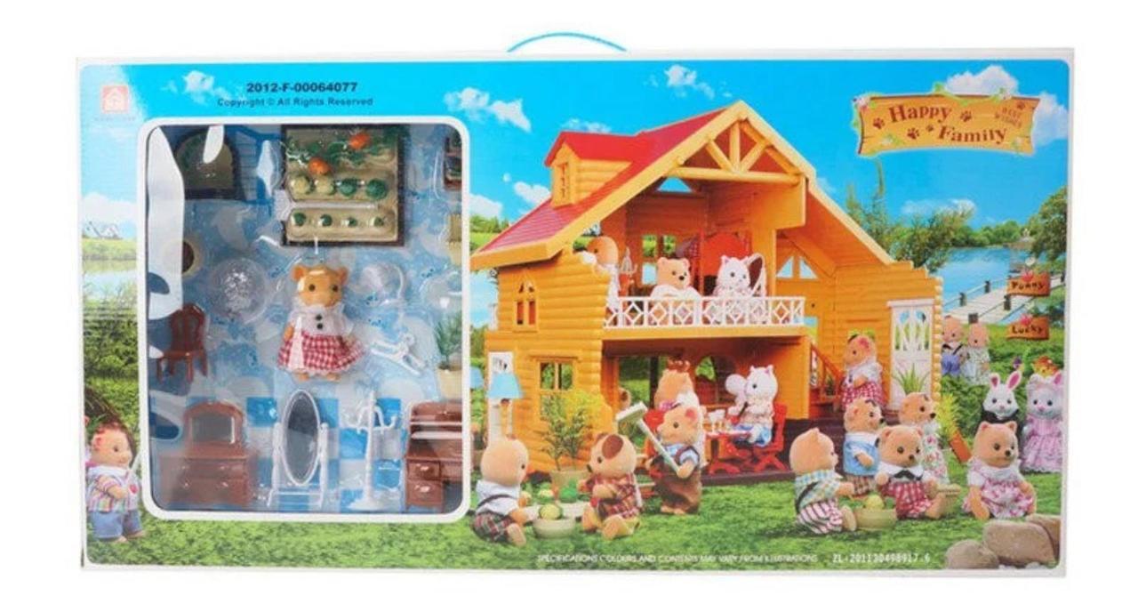 """Кукольный домик с флоксовыми животными """"Happy Family"""" 012-03"""