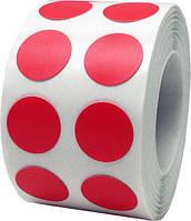 Этикетка кружечек 16 мм диаметр (14000 шт) полуглянец красная