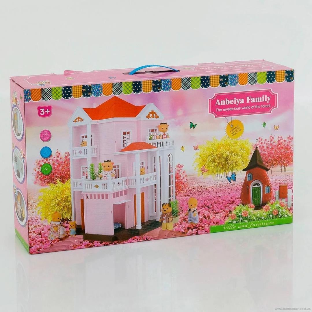 """Кукольный домик с флоксовыми животными Happy Family """"Розовая мечта"""" 1513"""