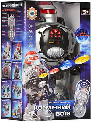"""Робот на радиоуправлении """"Космический воин"""" 0465, стреляет дисками"""