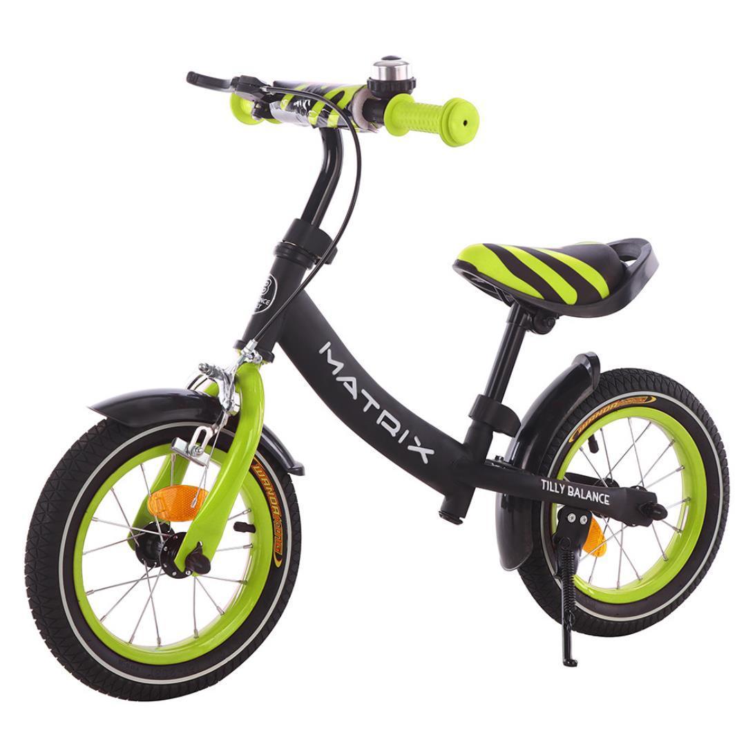 Детский беговел Tilly Balance Matrix T-21259 Green (Салатовый) c ручным тормозом и звонком