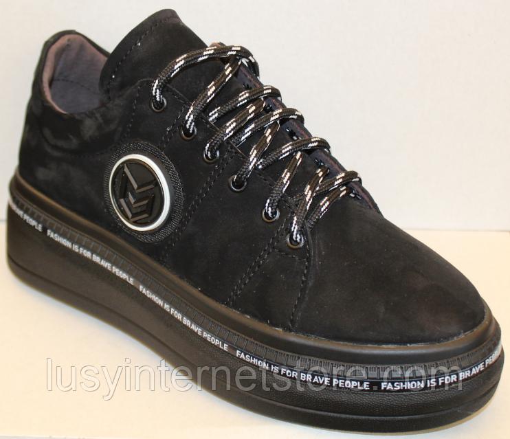 Кроссовки женские черные замшевые от производителя модель ЛИ7