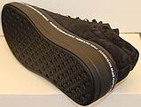 Кроссовки женские черные замшевые от производителя модель ЛИ7, фото 2