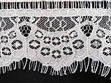 Ажурне французьке мереживо шантильї (з віями) білого кольору шириною 10,5 см, довжина купона 3,0 м., фото 5