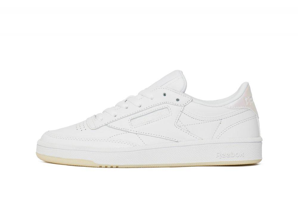 "Женские кроссовки  Reebok Club C 85 Leather ""Pearl White"" BS5163"