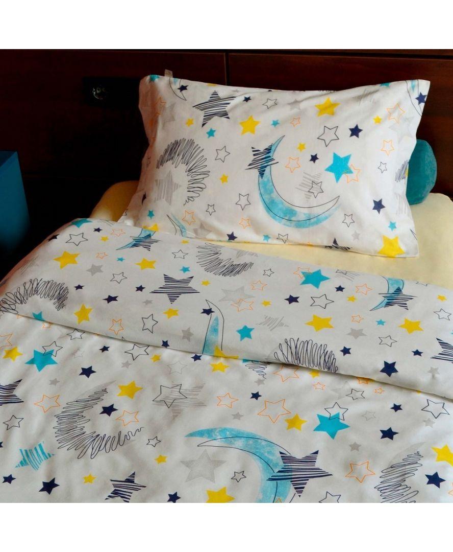 Набір постільної білизни дитячий полуторний Moon and Star
