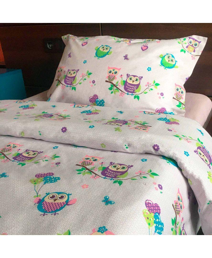 Набор постельного белья детский полуторный Совушки