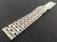 Браслет для часов из нержавеющей стали 316L, литой, глянец/мат. Прямой/заокругленный. 21 мм, фото 1