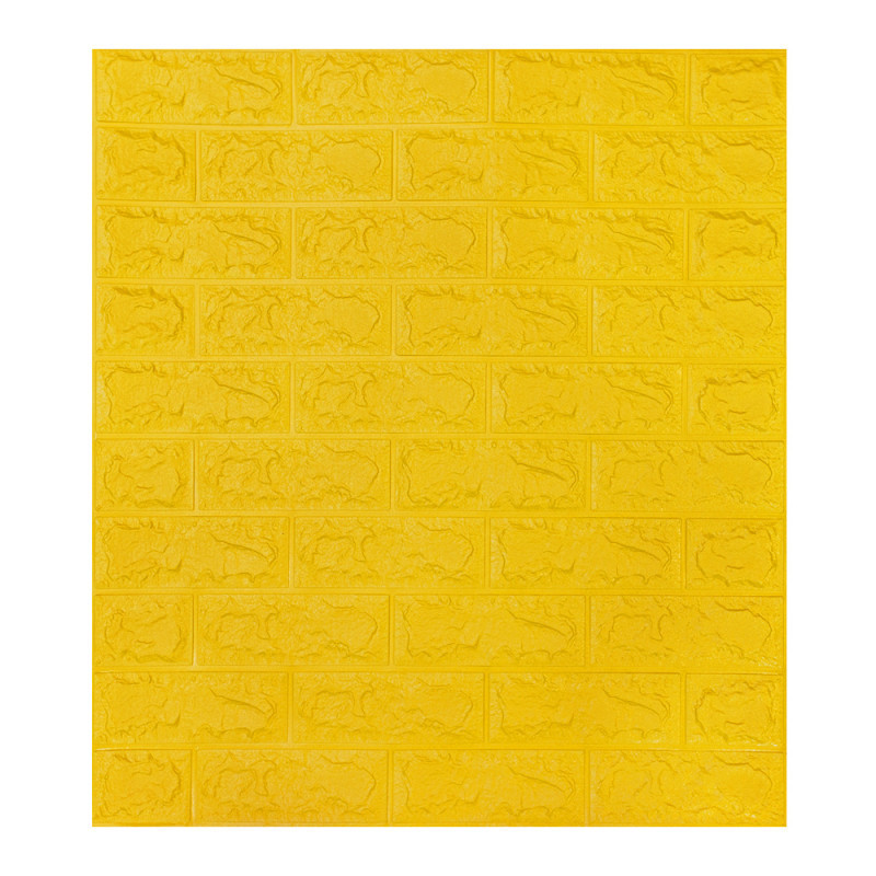 Декоративна 3Д-панель стінова жовта цегла 700x770x5 мм (самоклеюча 3d панелі для стін)